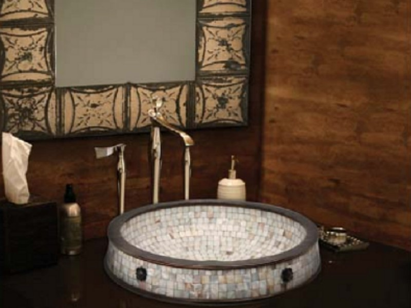 Linkasink Bathroom Sink - CM03 - Semi Recessed Mosaic