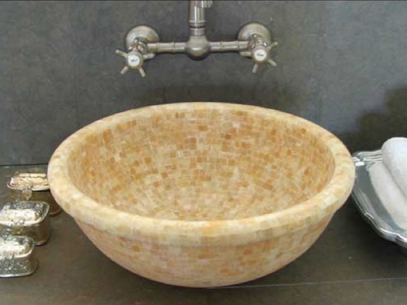 Linkasink Bathroom Sink - MV04 - Moored Onyx Vessel
