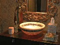 Linkasink Bathroom Sink - MV03 - Striped Moored Onyx Vessel