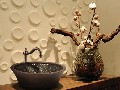 Linkasink Bathroom Sink - V006 - Copper Double Walled Mosaic Vessel